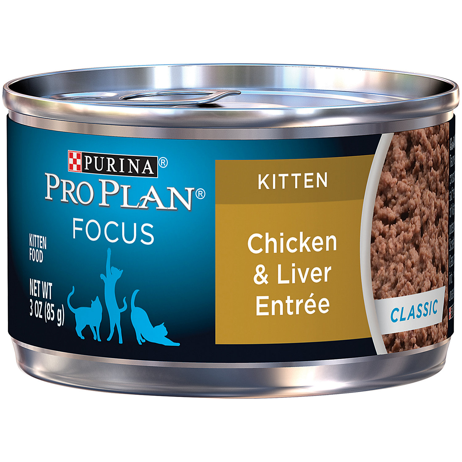 Pro Plan Focus Chicken Liver Canned Kitten Food 3 Oz. Case Of 24