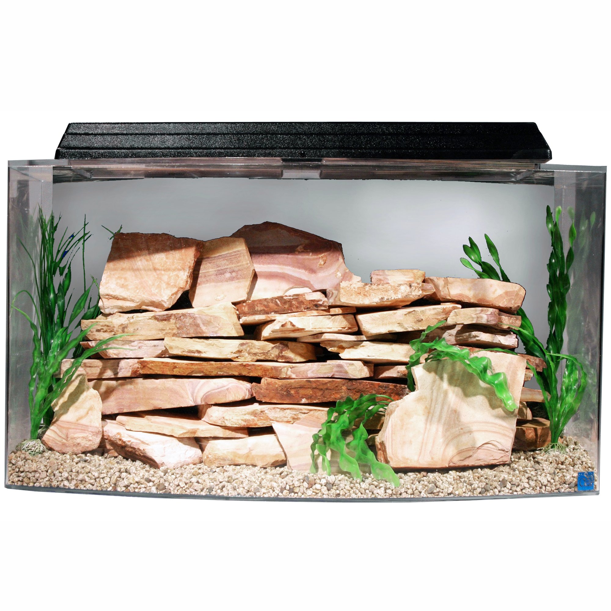 Seaclear bowfront 46 gallon aquarium combos in clear petco for Petco fish tank sale