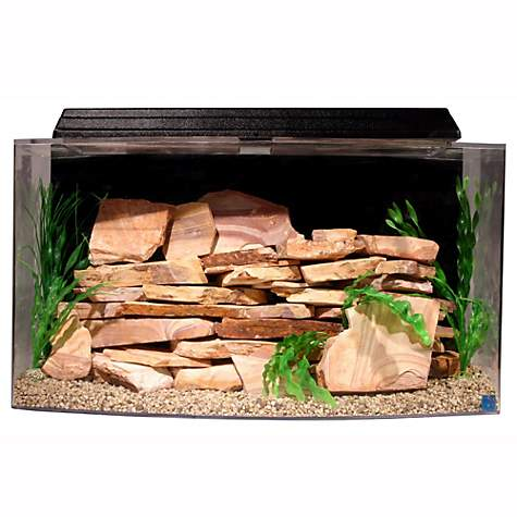 SeaClear Bowfront 46 Gallon Aquarium Combos in Black