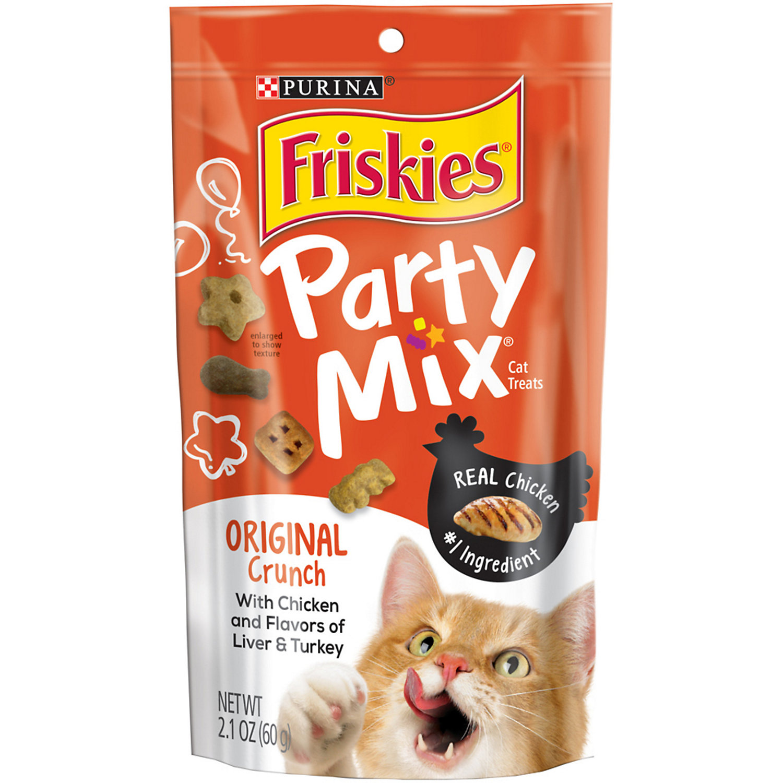 Friskies Original Crunch Party Mix Cat Treats 2.1 Oz.
