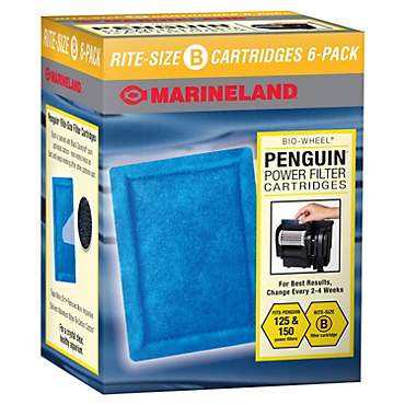 Marineland Rite-Size Bonded Filter Sleeve Six-Pack for Penguin 150/125 Power Filters