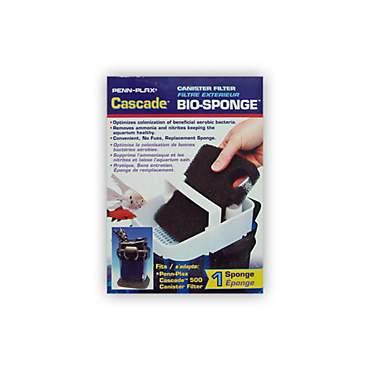penn plax cascade 500 canister filter bio-sponges | petco