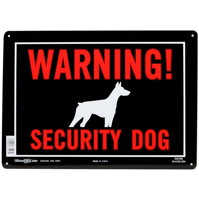 Hillman Sign Center Warning Security Dog Petco