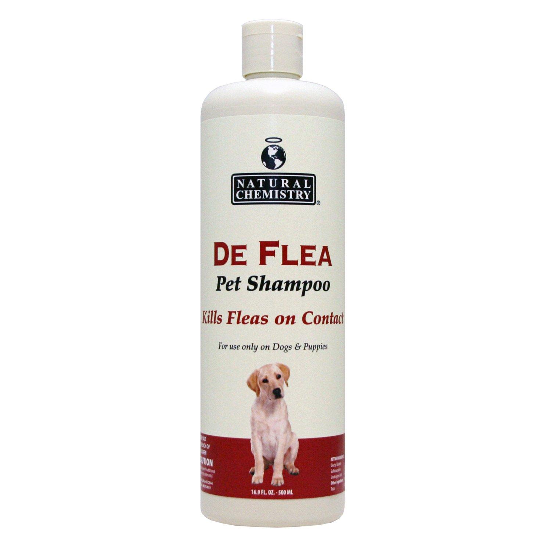 Image of Natural Chemistry De Flea Pet Shampoo, 16.9 FZ