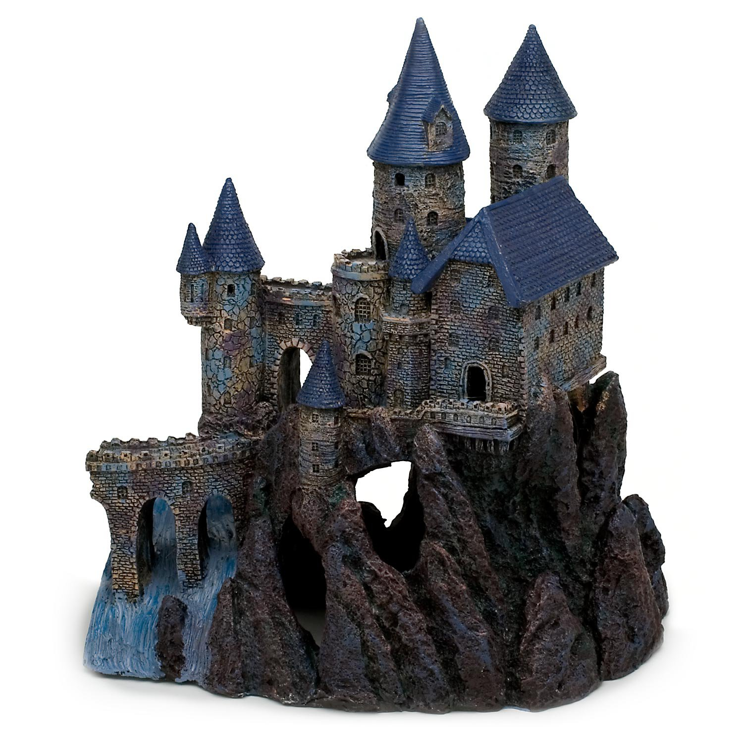 penn plax south castle aquarium decor | petco