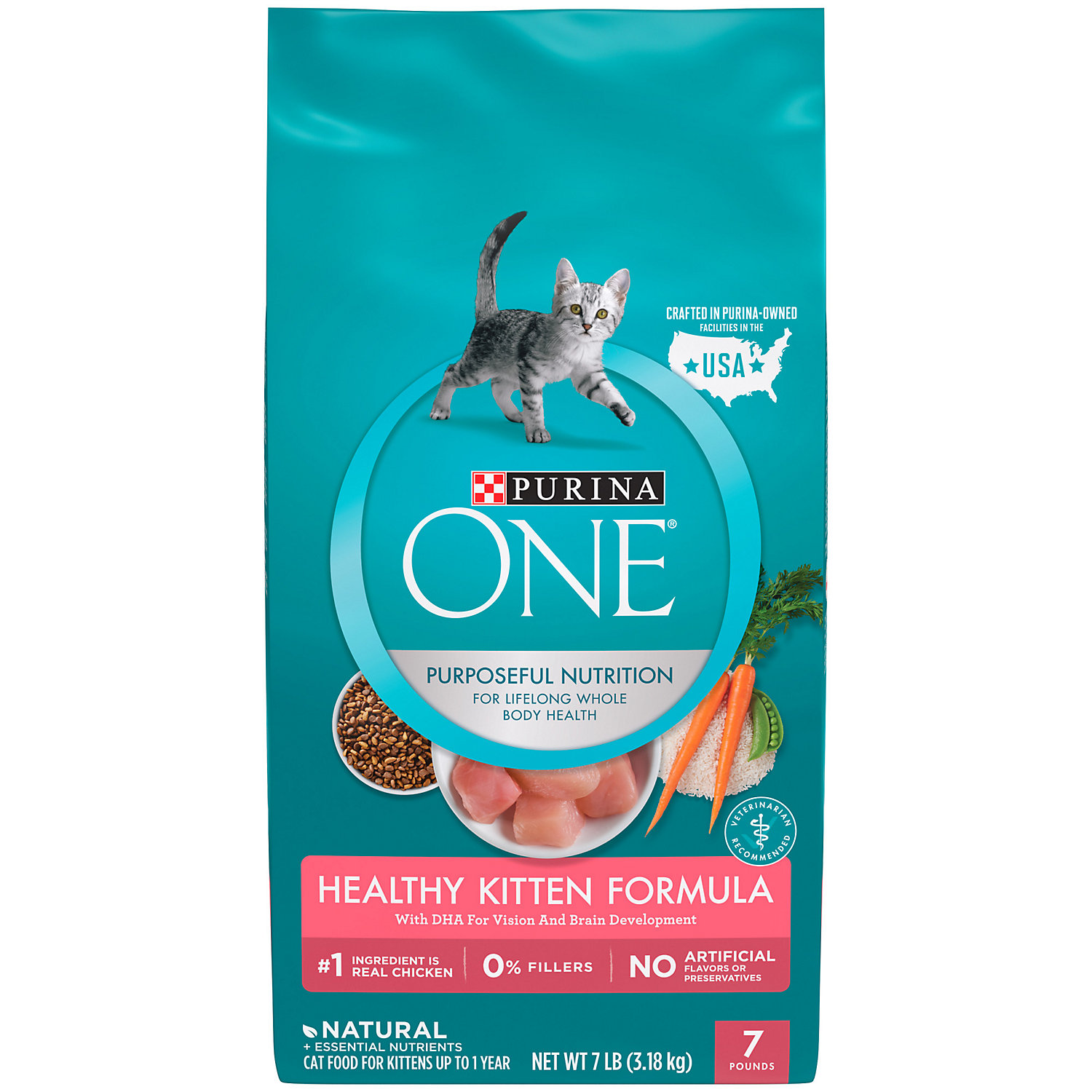 Purina One Growth Development Kitten Food 7 Lbs.