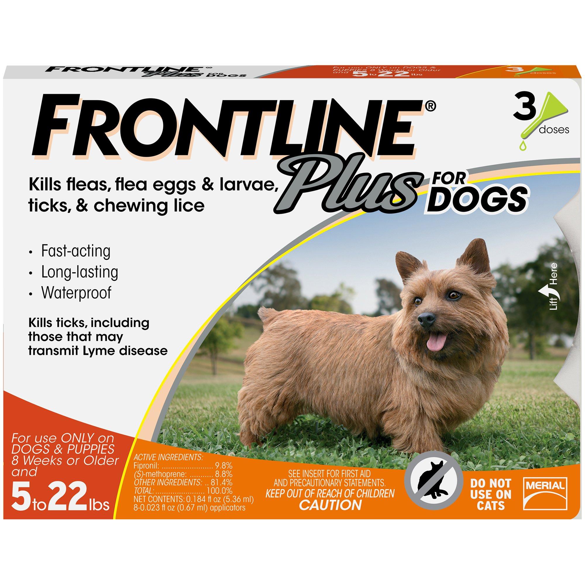Frontline Plus Flea Tick Drops For Dogs Small
