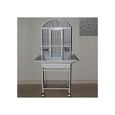 Avian Adventures Nina Dometop Bird Cages in Platinum