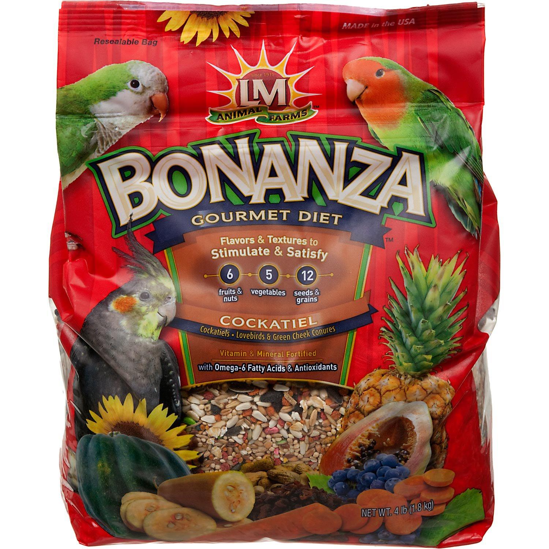 LM Animal Farms Bonanza Gourmet Diet Cockatiel Bird Food