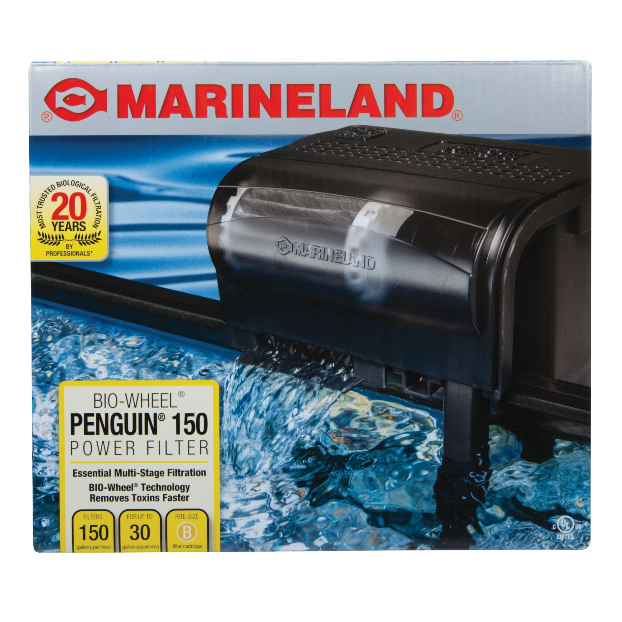 Marineland penguin 150 bio wheel power filter petco for Petco fish tank filters