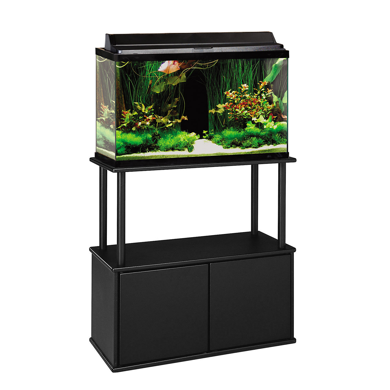 Aquatic Fundamentals 20 And 29 Gallon Aquarium Stand With Storage