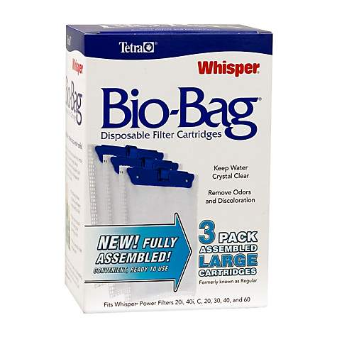 Tetra Whisper Bio Bag Disposable Filter Cartridges Large 3 Pack Petco