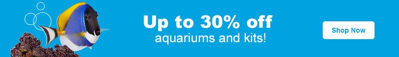 Up to 30% off Aquariums & Kits - Shop Now