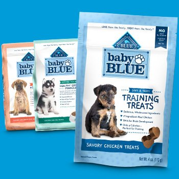 Baby BLUE Puppy Food and Treats