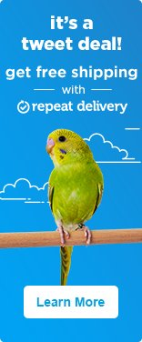 It's a tweet deal! Get free shipping with repeat delivery - learn more