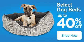 up to 40% off select dog beds - shop now