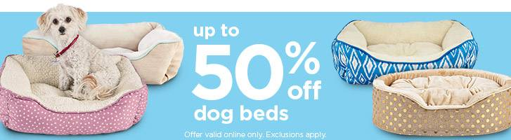 up to 50% off dog beds