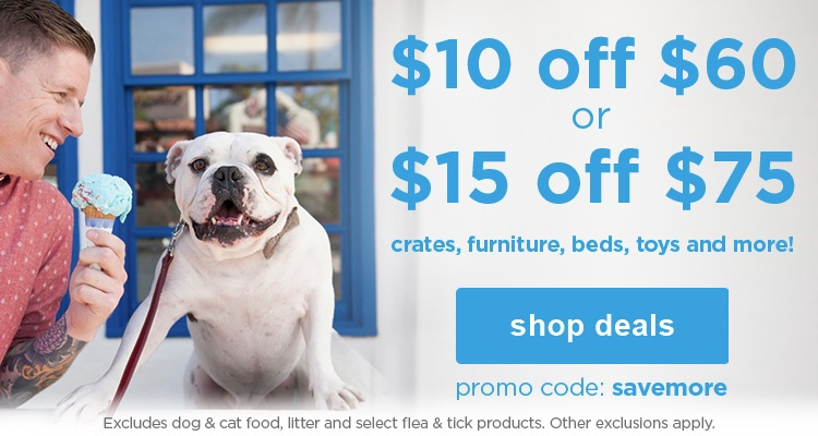 $10 off $60 or $15 off $75 with with promo code: savemore - shop deals