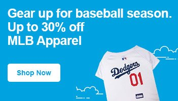 Up to 30% off MLB Apparel - Shop Now
