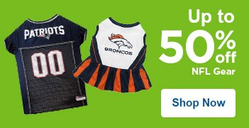 Up to 50% off NFL Gear - Shop Now