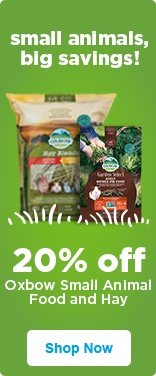 20% off Oxbow Small Animal Food and Hay - shop now