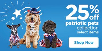 25% off patriotic pets collection