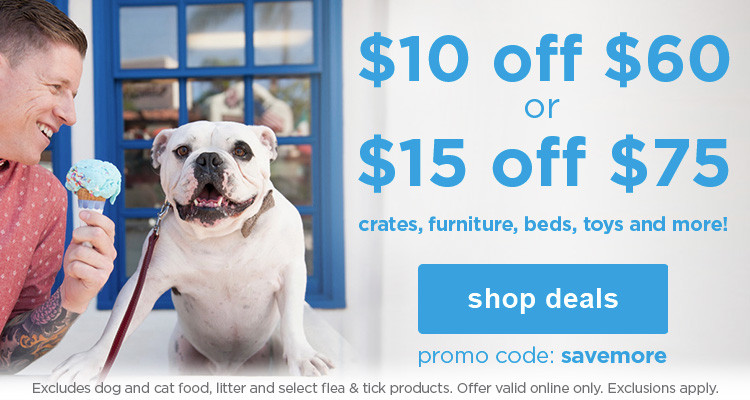 $10 off $60 or $15 off $75 with promo code: savemore