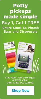 Buy 1, Get 1 Free on Entire Stock of So Phresh bags and dispensers - shop now