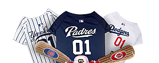 los angeles a6cb3 88bb6 MLB Pet Gear: Dog Jerseys, Collars, ID Tags & More for Fans ...