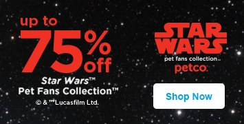 up to 75% off star wars pet fans collection - shop now