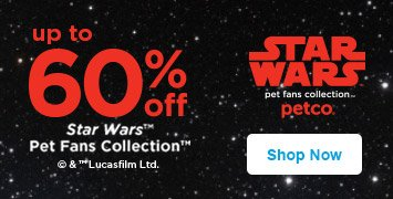 up to 60% off star wars pet fans collection - shop now