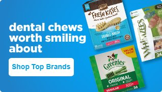 Dental chews worth smiling about - shop top brands