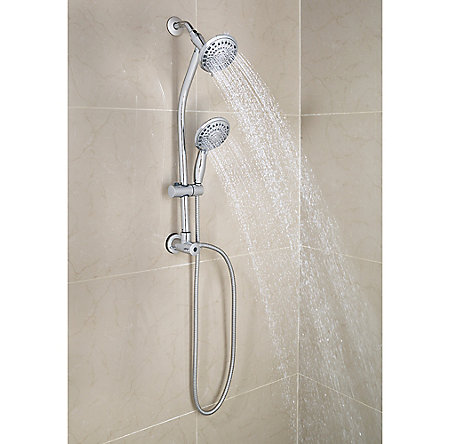 Polished Chrome Pfister 5-Function Handheld Shower - 016-HH12C - 2