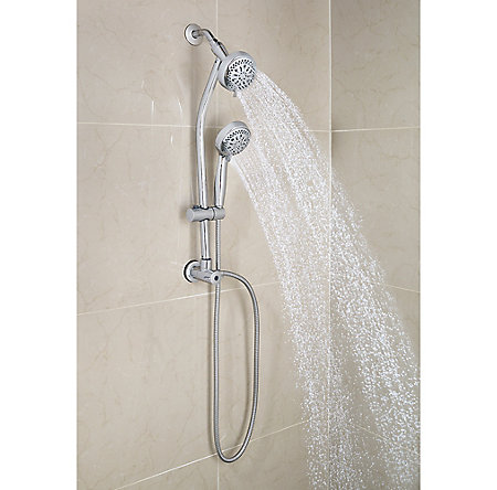 Polished Chrome Pfister 8-Function Handheld Shower - 016-HH13C - 2