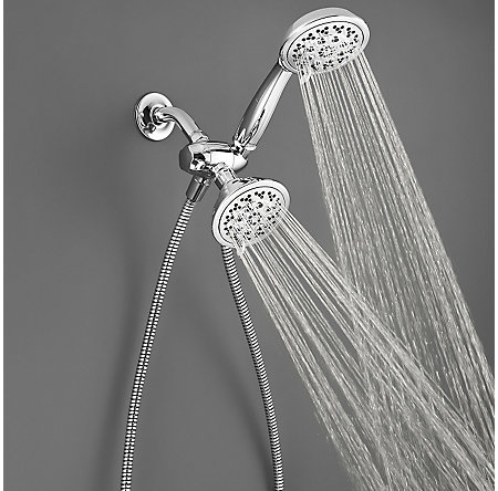 Polished Chrome Solita 6-Function Handshower and Showerhead, Trim Only - 020-SOCC - 3