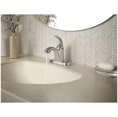 Brushed Nickel Pasadena Single Control, Centerset Bath Faucet - LF-042-PDKK - 3