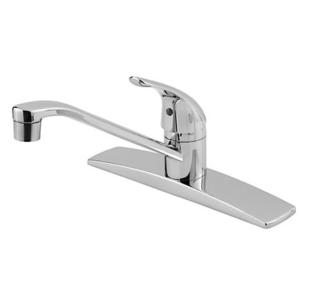 Stainless Steel Pfirst Series 1-Handle Kitchen Faucet - 134-144S - 1