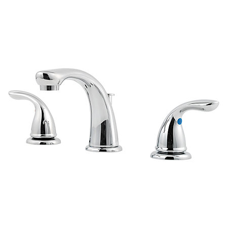 Polished Chrome Pfirst Series Widespread Bath Faucet - 149-6100 - 1