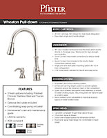 2013 Wheaton Pull-Down Kitchen Faucet Sell Sheet Cover Thumbnail