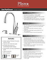 2013 Zuri Pull-down Kitchen Faucet Sell Sheet Cover Thumbnail