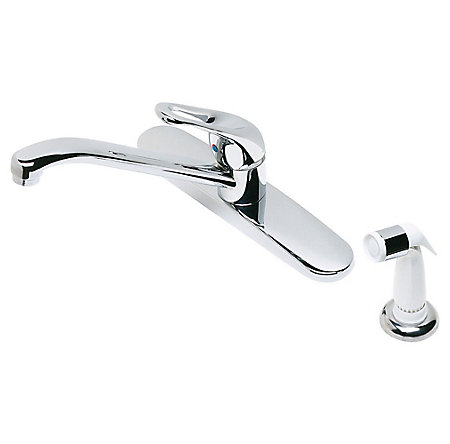 Polished Chrome Classic 1-Handle Kitchen Faucet - 434-4000 - 1