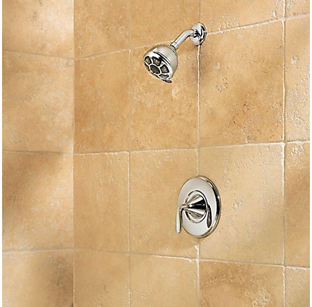 Polished Chrome Pasadena 1-Handle Tub & Shower, Complete with Valve - 8P8-WS-PDCC - 3