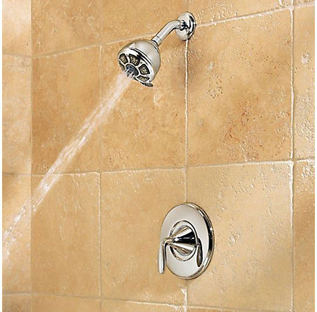 Polished Chrome Pasadena 1-Handle Tub & Shower, Complete with Valve - 8P8-WS-PDCC - 5
