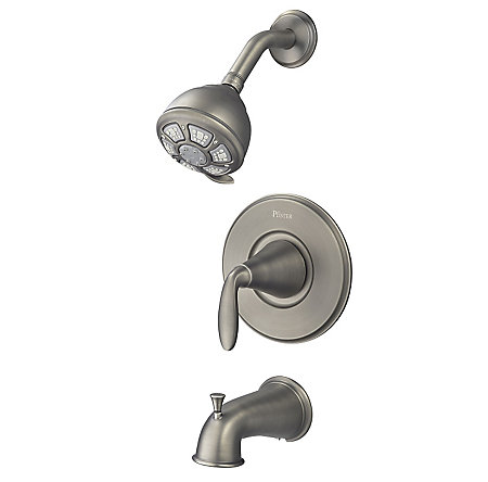 Slate Pasadena 1-Handle Tub & Shower, Complete with Valve - 8P8-WS-PDSSL - 1