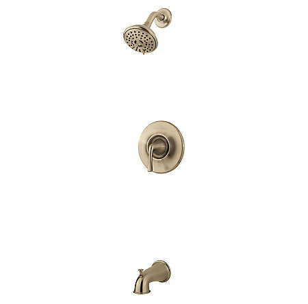 Brushed Nickel Selia 1-Handle Tub & Handshower, Complete With Valve - 8P8-WS2-SLKK - 1