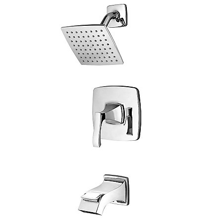 Polished Chrome Venturi 1-Handle Tub & Shower, Complete With Valve - 8P8-WS-VNSC - 1