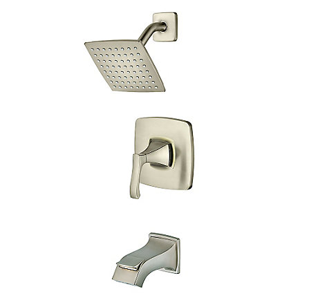 Brushed Nickel Venturi 1-Handle Tub & Shower, Complete with Valve - 8P8-WS-VNSK - 1