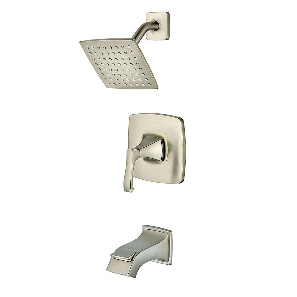 Brushed Nickel Venturi 1-Handle Tub & Shower, Complete With Valve ...