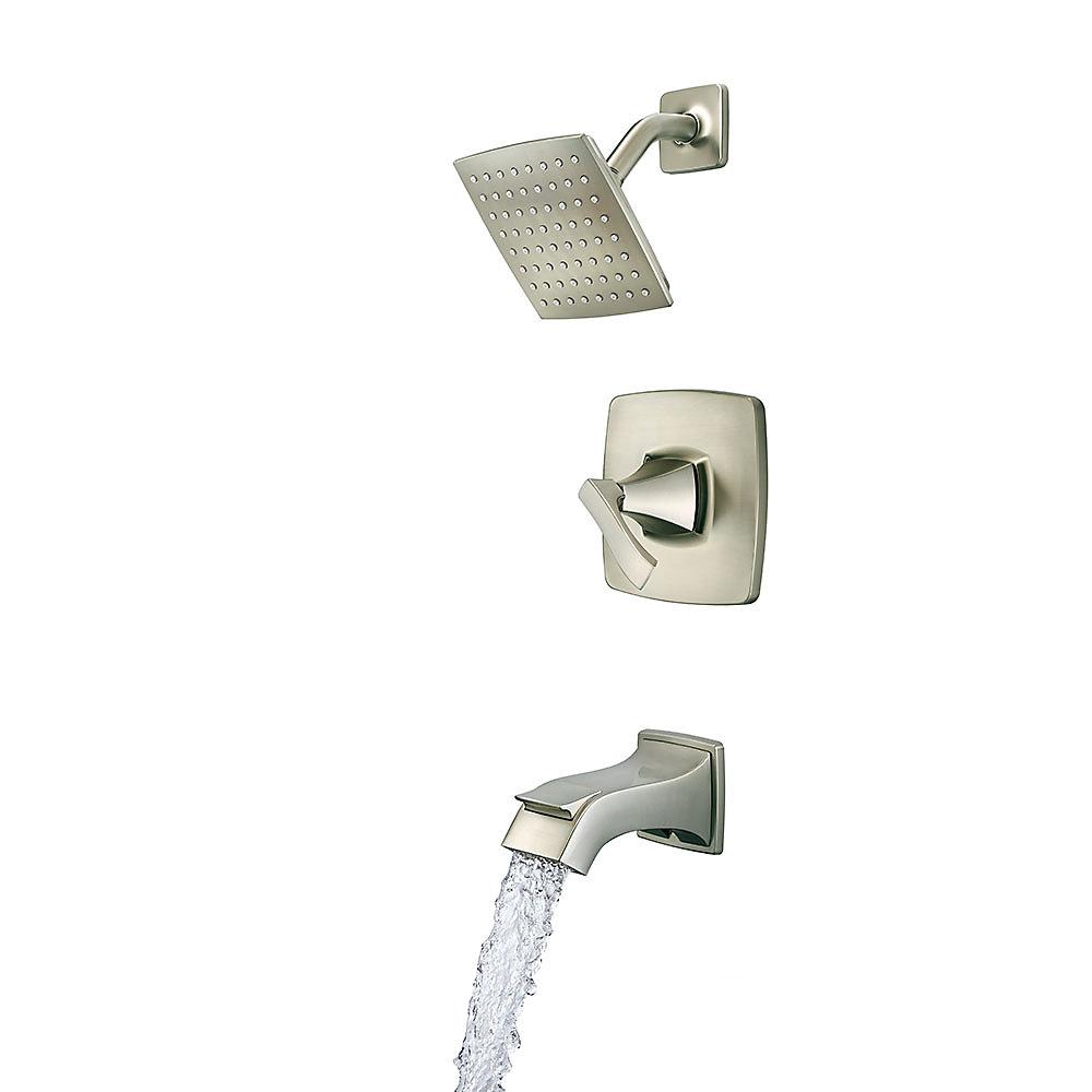 Spot Defense Brushed Nickel Venturi 1-Handle Tub & Shower, Complete ...