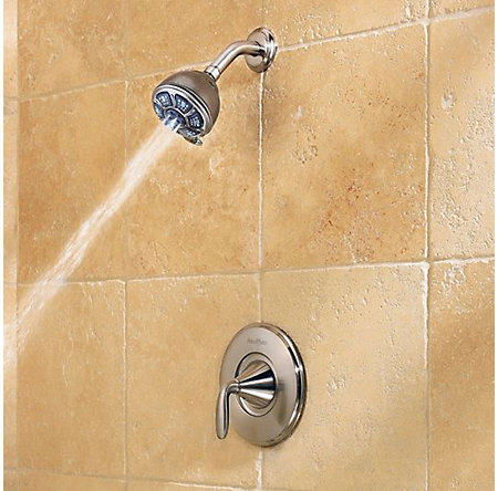 Brushed Nickel Pasadena 1-Handle Tub & Shower, Complete With Valve - 8P8-WS2-PDKK - 5